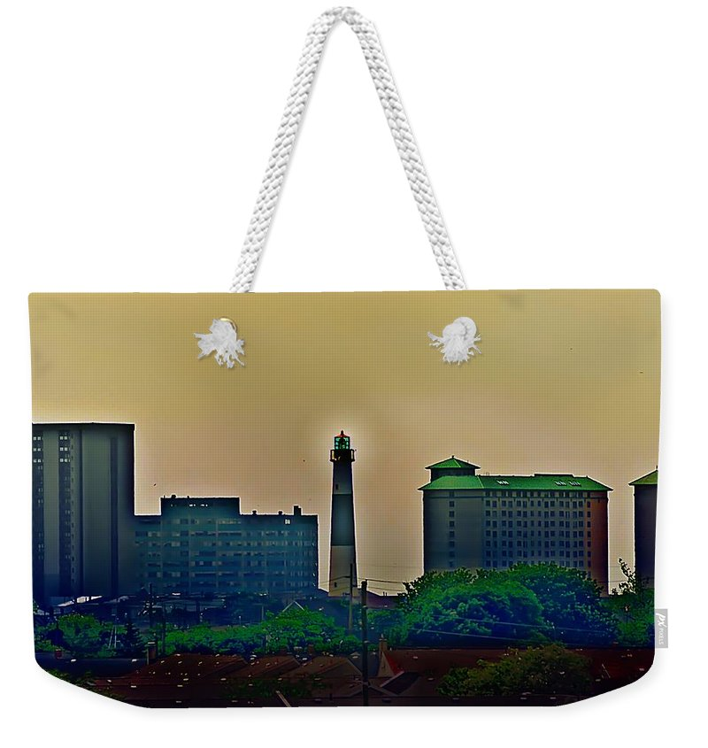 Atlantic City Weekender Tote Bag featuring the photograph Absecon Lighthouse by Bill Cannon
