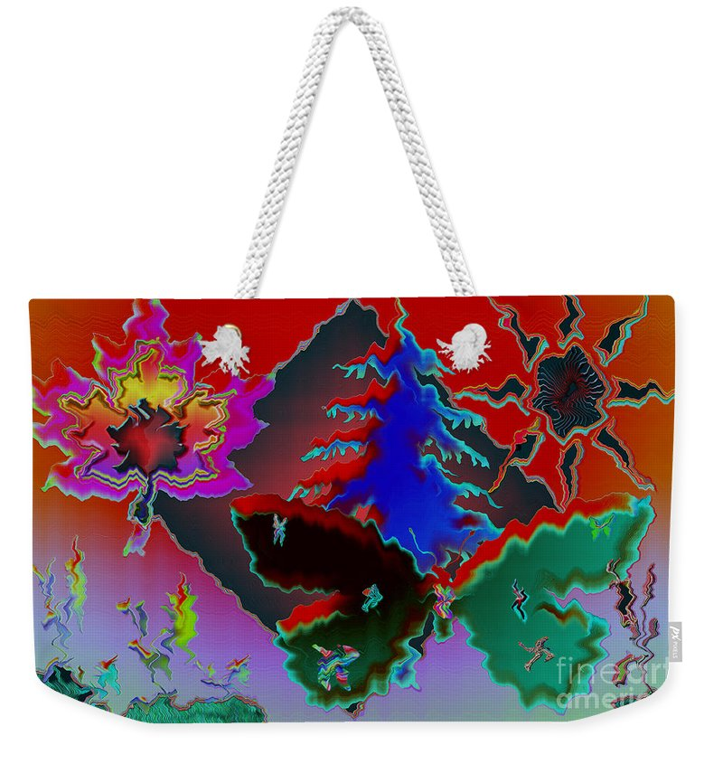 Abstract Weekender Tote Bag featuring the photograph Absract by Donna Brown