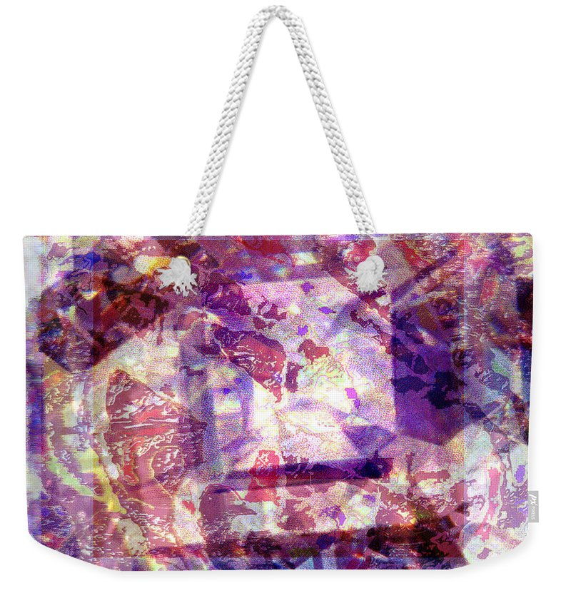Abstract Weekender Tote Bag featuring the digital art Abstacked by Seth Weaver