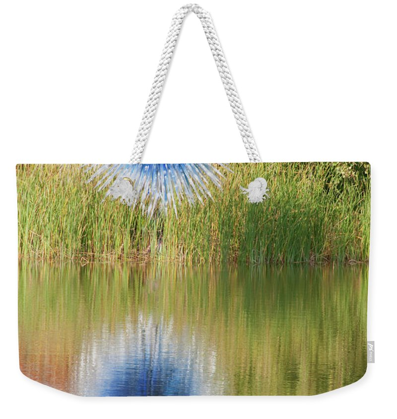 Abstact Weekender Tote Bag featuring the photograph Abstact Sphere Over Water by David Arment