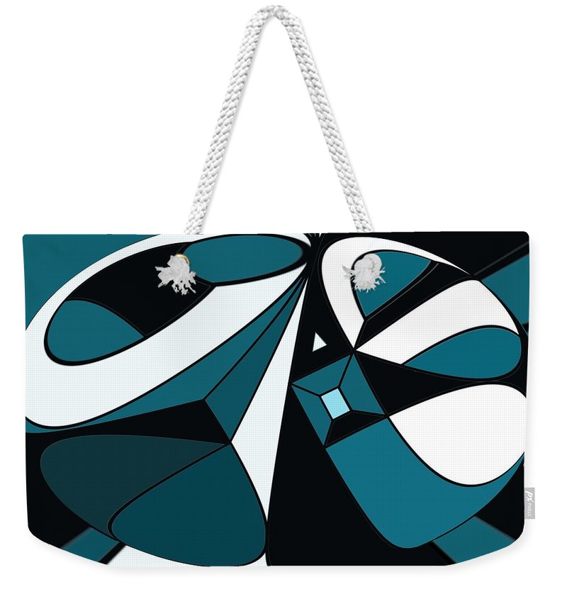 Abstract Weekender Tote Bag featuring the digital art Abstrac7-30-09-a by David Lane