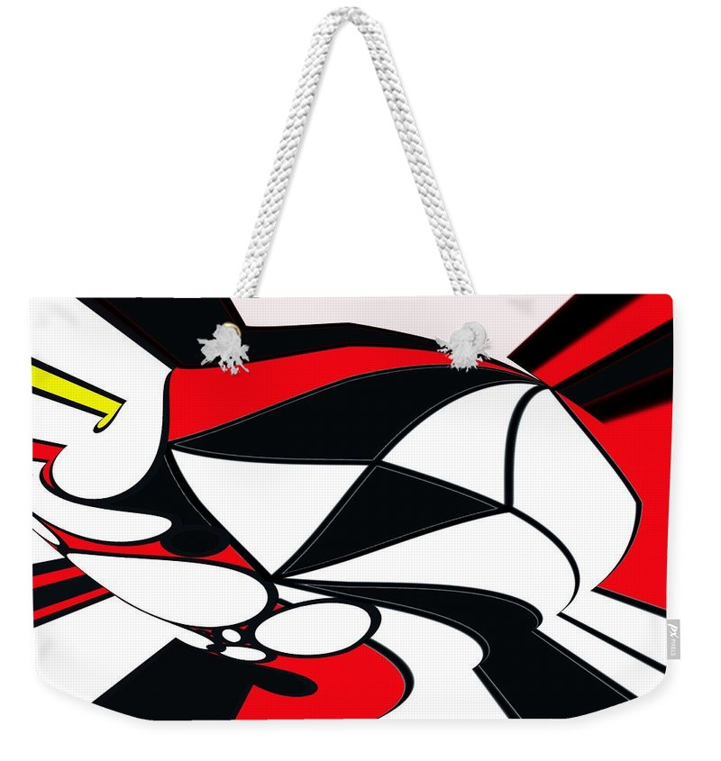 Abstract Weekender Tote Bag featuring the digital art Abstrac7-30-09-b by David Lane