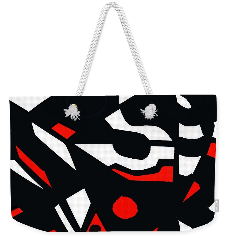 Abstract Weekender Tote Bag featuring the digital art Abstrac7-30-09 by David Lane