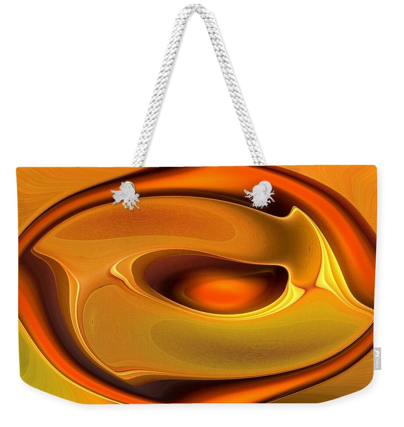 Abstract Weekender Tote Bag featuring the digital art Abstrac8-15-09 by David Lane
