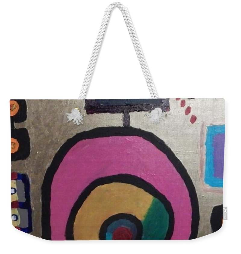 Abstract Design Weekender Tote Bag featuring the painting Abstract # 11 by Dennis Young
