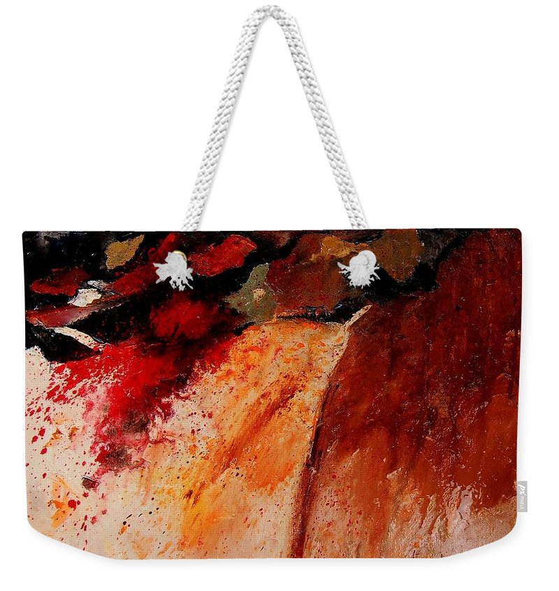Abstract Weekender Tote Bag featuring the painting Abstract 010607 by Pol Ledent
