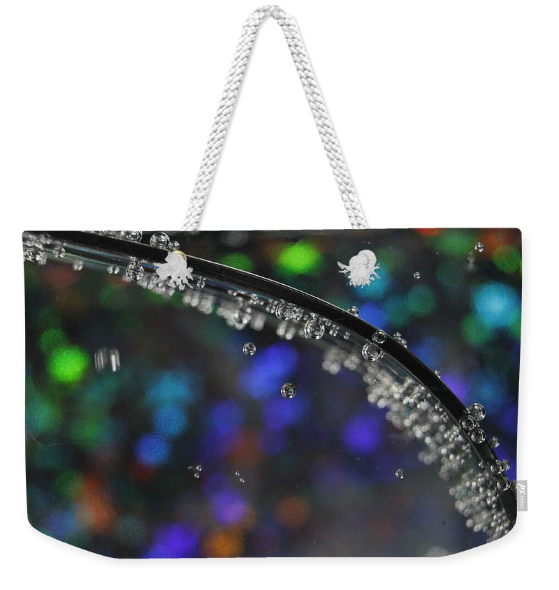 Color Weekender Tote Bag featuring the photograph Abstract 018 by Dawn Marshall