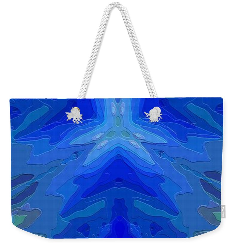 Abstract Weekender Tote Bag featuring the digital art Abstract 032811-2 by David Lane