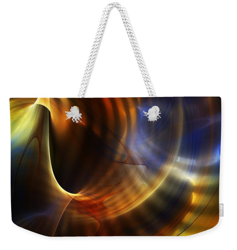 Fine Art Weekender Tote Bag featuring the digital art Abstract 040511 by David Lane