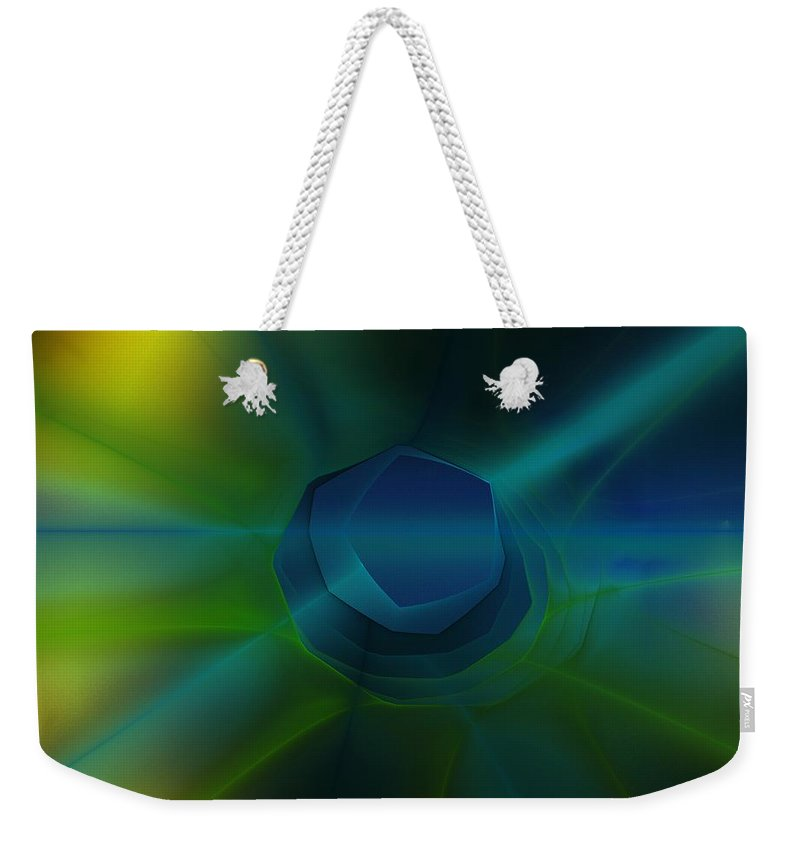 Fine Art Weekender Tote Bag featuring the digital art Abstract 041111 by David Lane