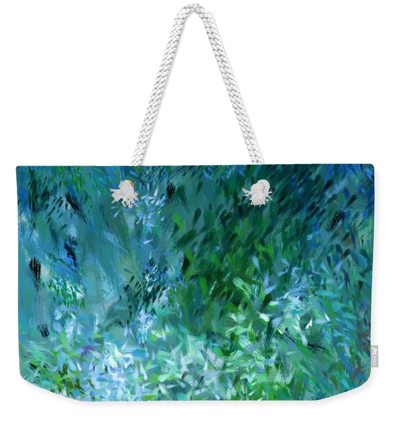Abstract Weekender Tote Bag featuring the digital art Abstract 05-25-09 by David Lane
