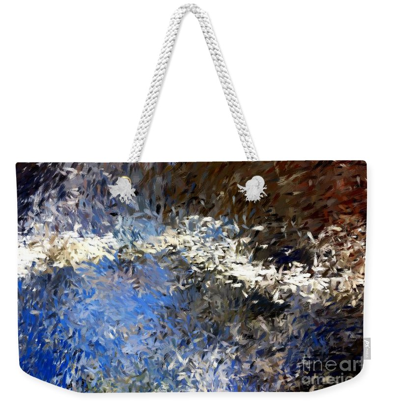 Abstract Weekender Tote Bag featuring the digital art Abstract 06-03-09b by David Lane