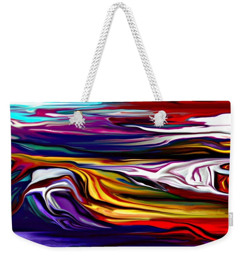 Abstract Weekender Tote Bag featuring the digital art Abstract 06-12-09 by David Lane