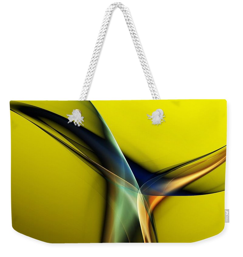 Fine Art Weekender Tote Bag featuring the digital art Abstract 060311 by David Lane