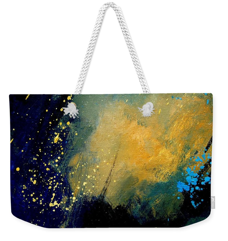 Abstract Weekender Tote Bag featuring the painting Abstract 061 by Pol Ledent