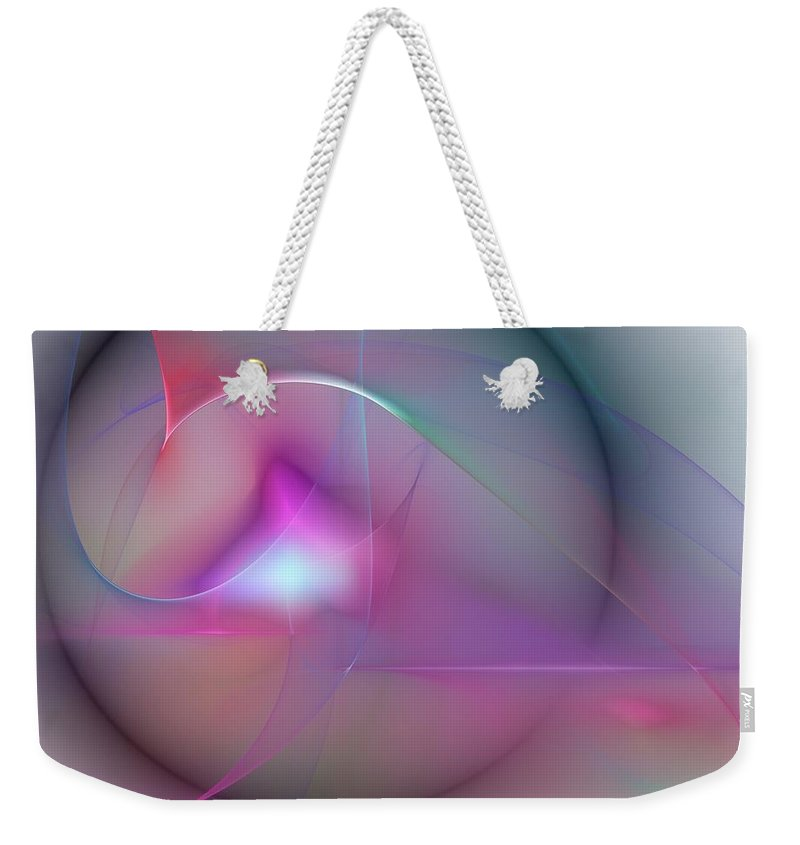 Expressionism Weekender Tote Bag featuring the digital art Abstract 061910 by David Lane
