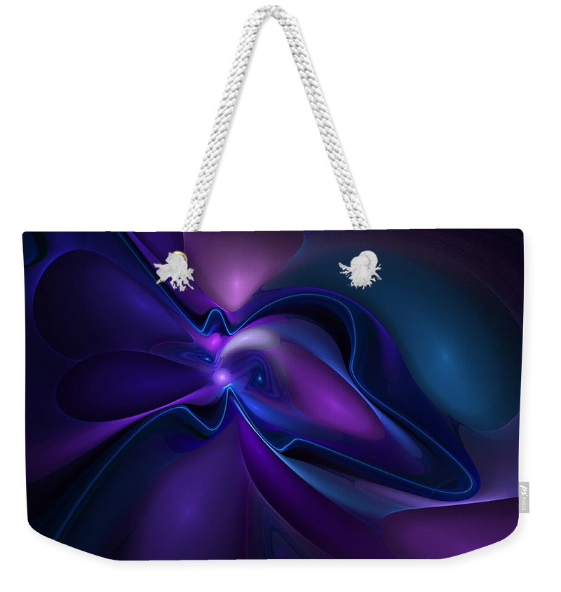 Expressionism Weekender Tote Bag featuring the digital art Abstract 062010a by David Lane