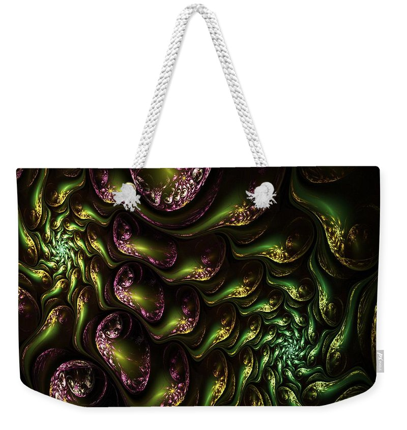 Expressionism Weekender Tote Bag featuring the digital art Abstract 062210 by David Lane