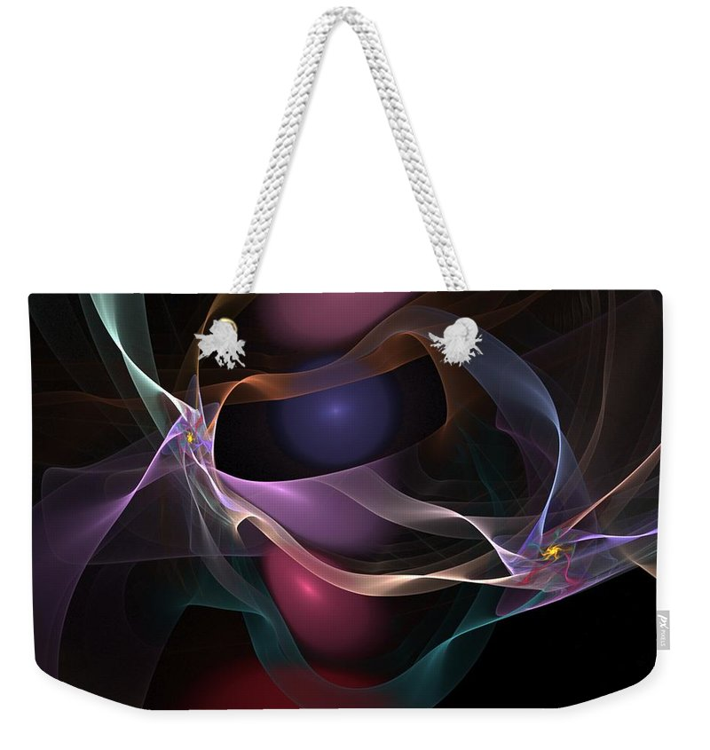 Fine Art Weekender Tote Bag featuring the digital art Abstract 062310 by David Lane