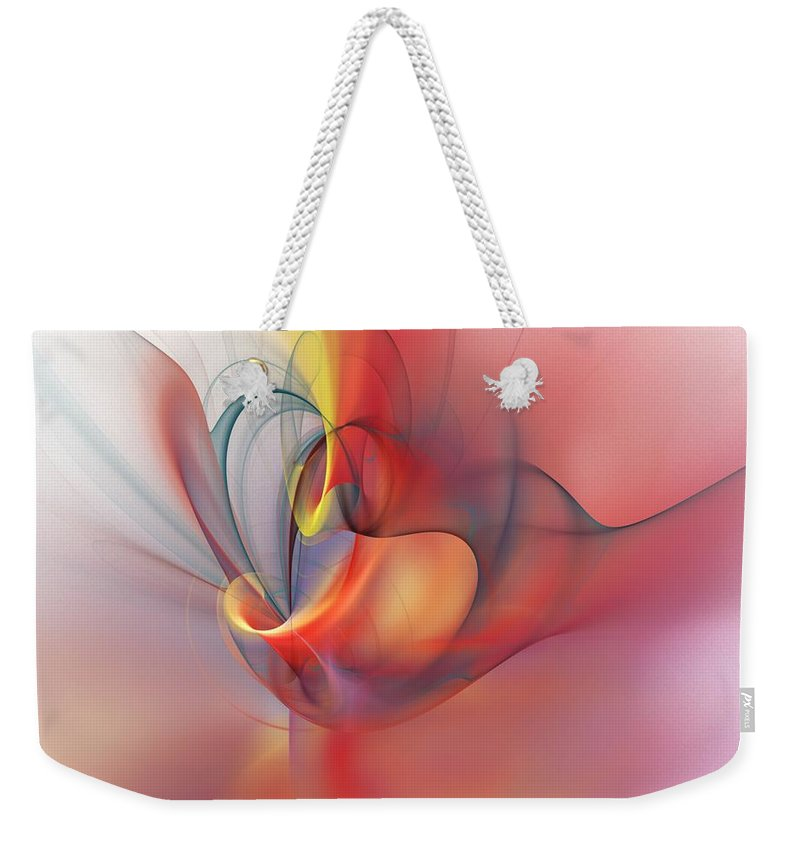 Abstract Weekender Tote Bag featuring the digital art Abstract 062910 by David Lane