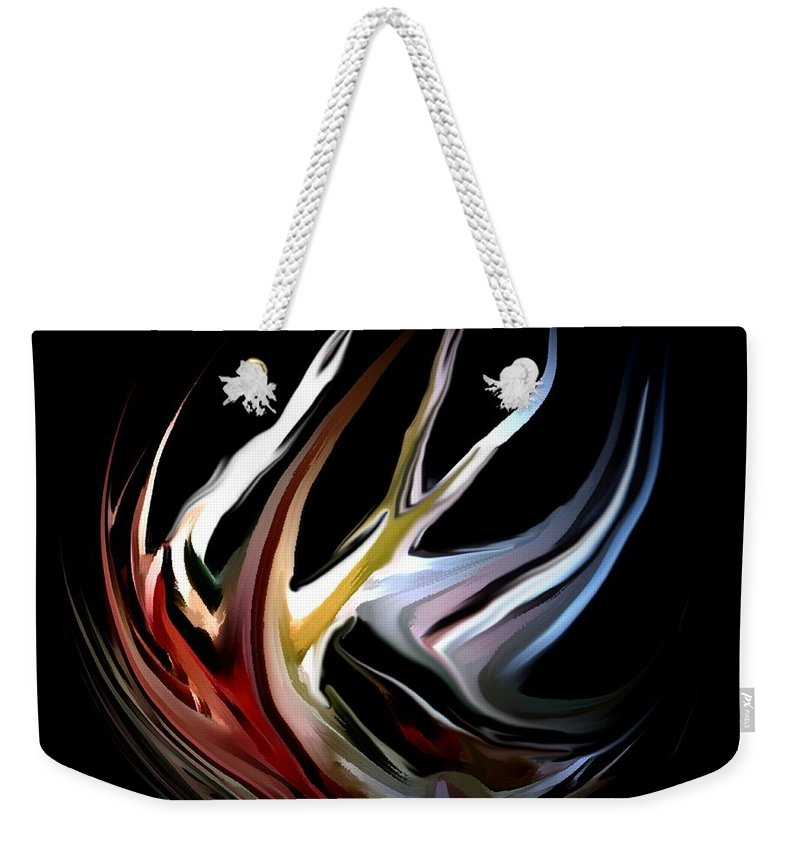 Abstract Weekender Tote Bag featuring the digital art Abstract 07-26-09-c by David Lane