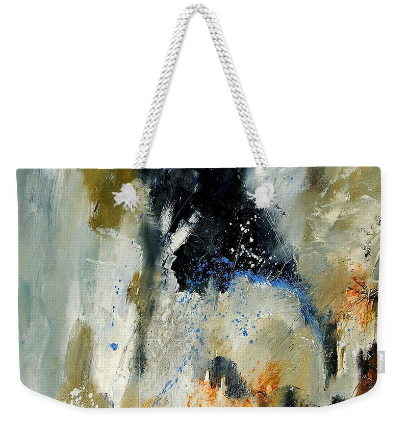 Abstarct Weekender Tote Bag featuring the painting Abstract 070808 by Pol Ledent