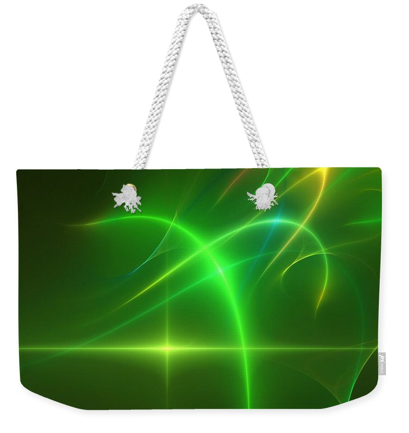 Abstract Weekender Tote Bag featuring the digital art Abstract 081210 by David Lane