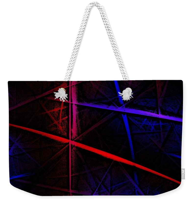 Abstract Weekender Tote Bag featuring the digital art Abstract 081410 by David Lane
