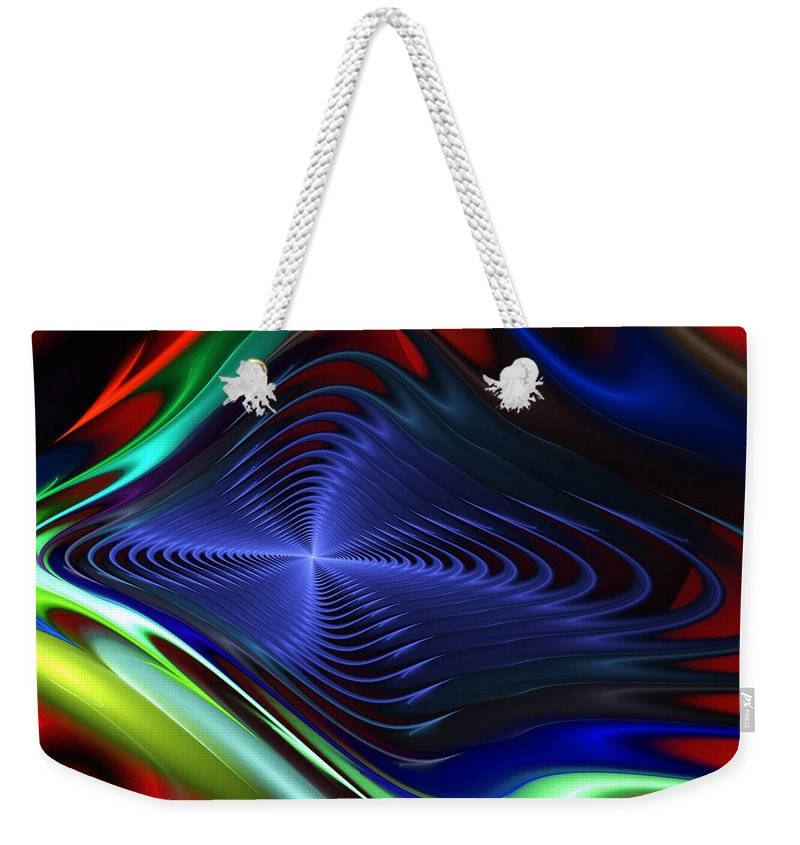 Fine Art Weekender Tote Bag featuring the digital art Abstract 081510 by David Lane
