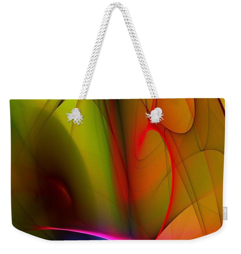 Fractal Weekender Tote Bag featuring the digital art Abstract 082910 by David Lane