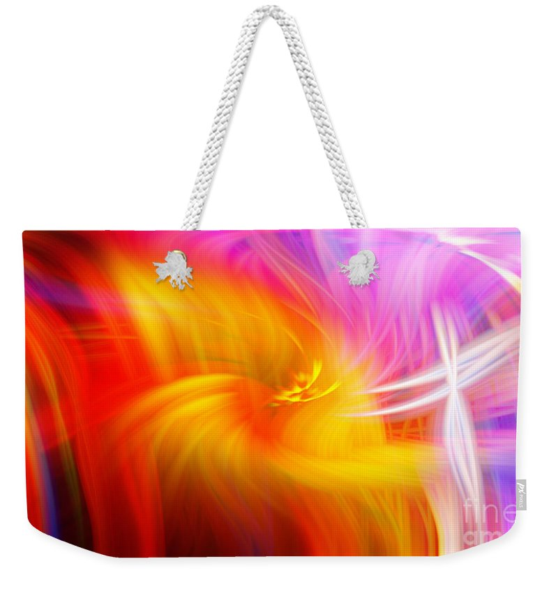 Art Weekender Tote Bag featuring the photograph Abstract 0902 L by Howard Roberts