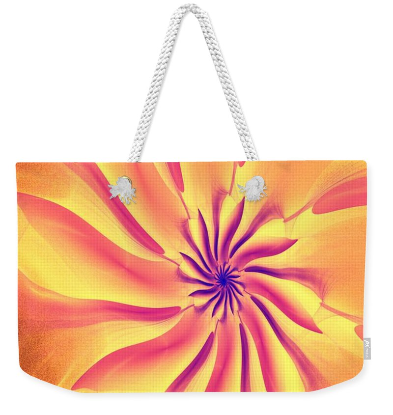 Fine Art Weekender Tote Bag featuring the digital art Abstract 090510 by David Lane