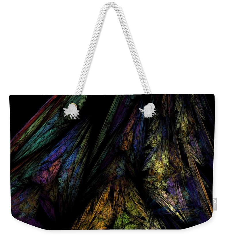 Abstract Digital Painting Weekender Tote Bag featuring the digital art Abstract 10-08-09-1 by David Lane