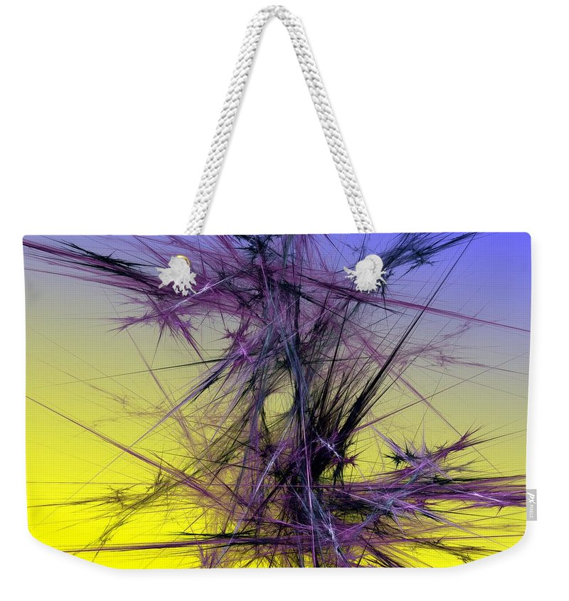 Abstract Digital Painting Weekender Tote Bag featuring the digital art Abstract 10-08-09 by David Lane