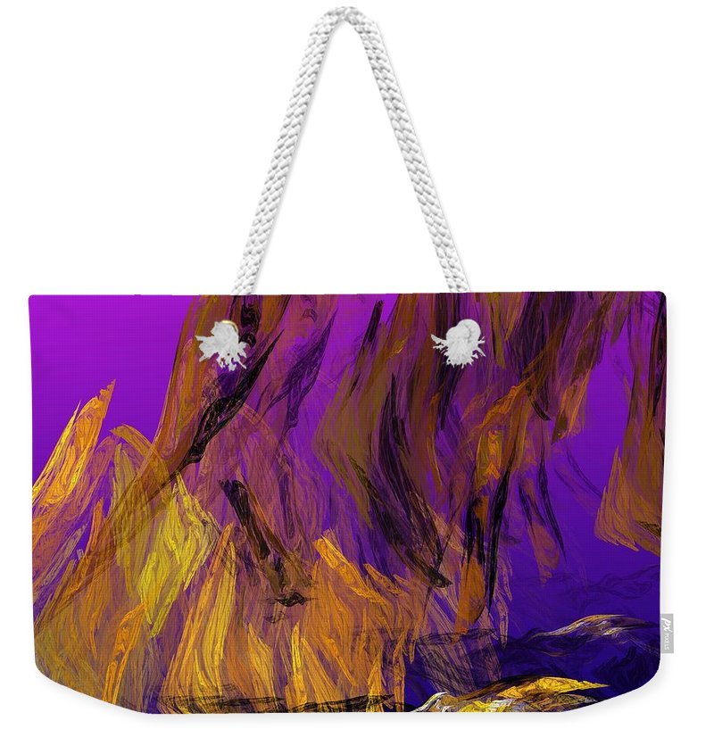 Abstract Digital Painting Weekender Tote Bag featuring the digital art Abstract 10-16-09-3 by David Lane