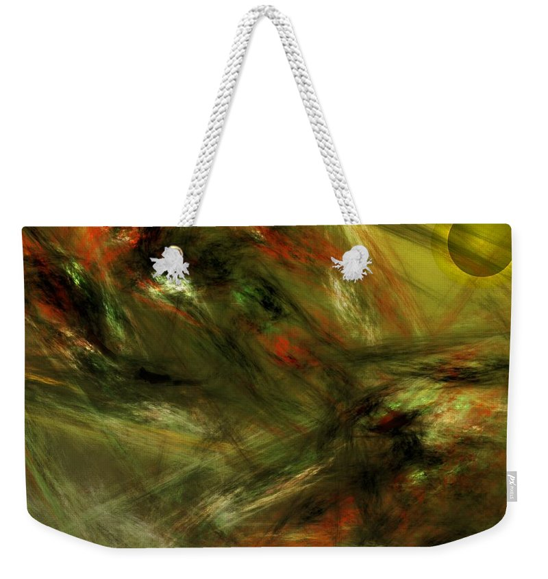 Fine Art Digital Art Weekender Tote Bag featuring the digital art Abstract 102910a by David Lane