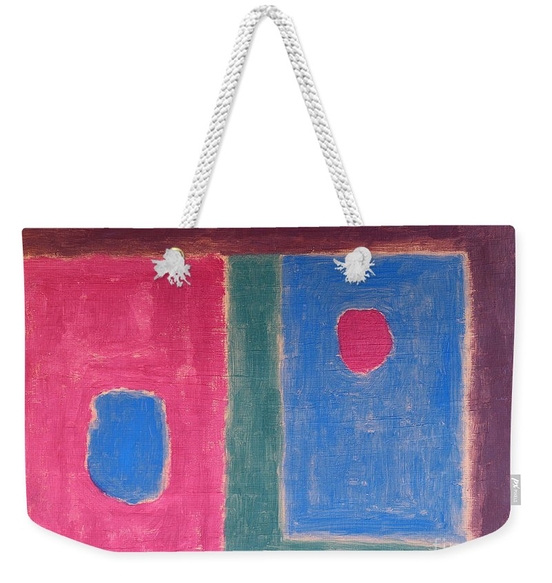 Abstract Weekender Tote Bag featuring the painting Abstract 109 by Patrick J Murphy