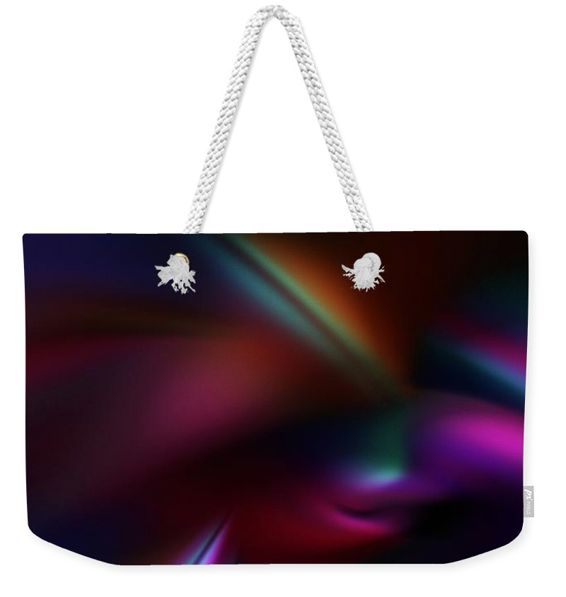 Abstract Digital Painting Weekender Tote Bag featuring the digital art Abstract 11-08-09 by David Lane