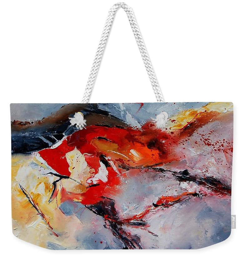 Abstract Weekender Tote Bag featuring the painting Abstract 1106 by Pol Ledent