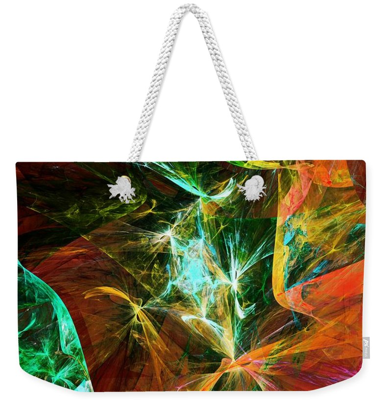 Fine Art Digital Art Weekender Tote Bag featuring the digital art Abstract 110810 by David Lane