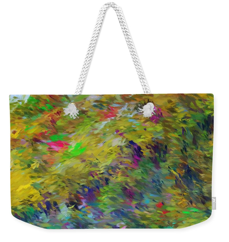 Abstract Weekender Tote Bag featuring the digital art Abstract 111510 by David Lane