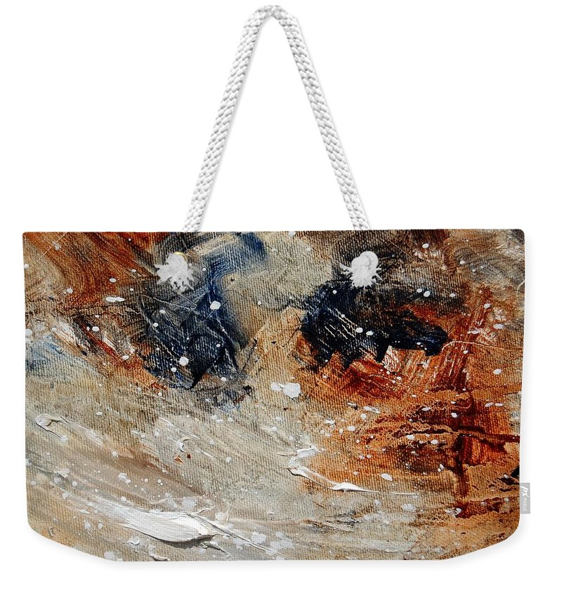 Abstract Weekender Tote Bag featuring the painting Abstract 1236 by Pol Ledent