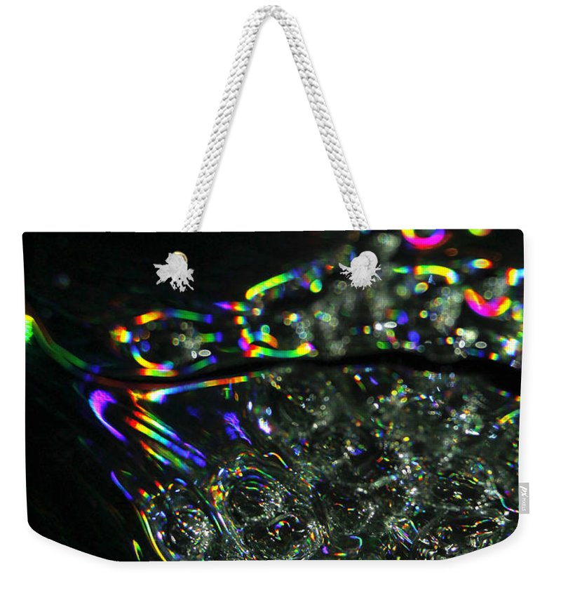 Colorful Weekender Tote Bag featuring the photograph Abstract 133 by Dawn Marshall