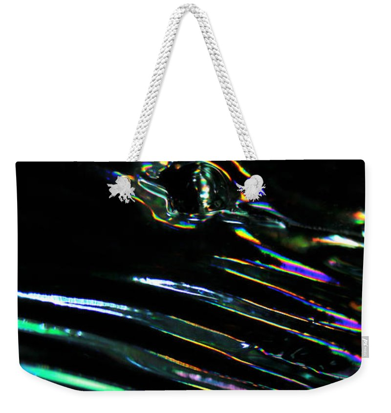 Colorful Weekender Tote Bag featuring the photograph Abstract 137 by Dawn Marshall