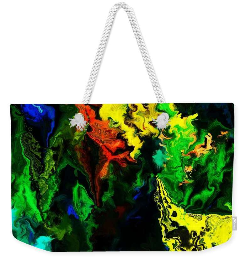 Abstract Weekender Tote Bag featuring the digital art Abstract 2-23-09 by David Lane