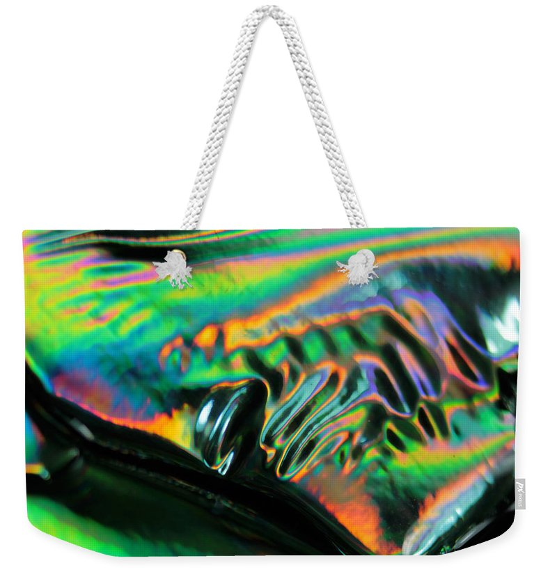 Colorful Weekender Tote Bag featuring the photograph Abstract 031 by Dawn Marshall