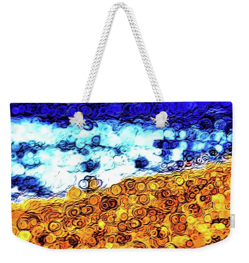 Abstract Weekender Tote Bag featuring the photograph Abstract 3821 by Kristalin Davis