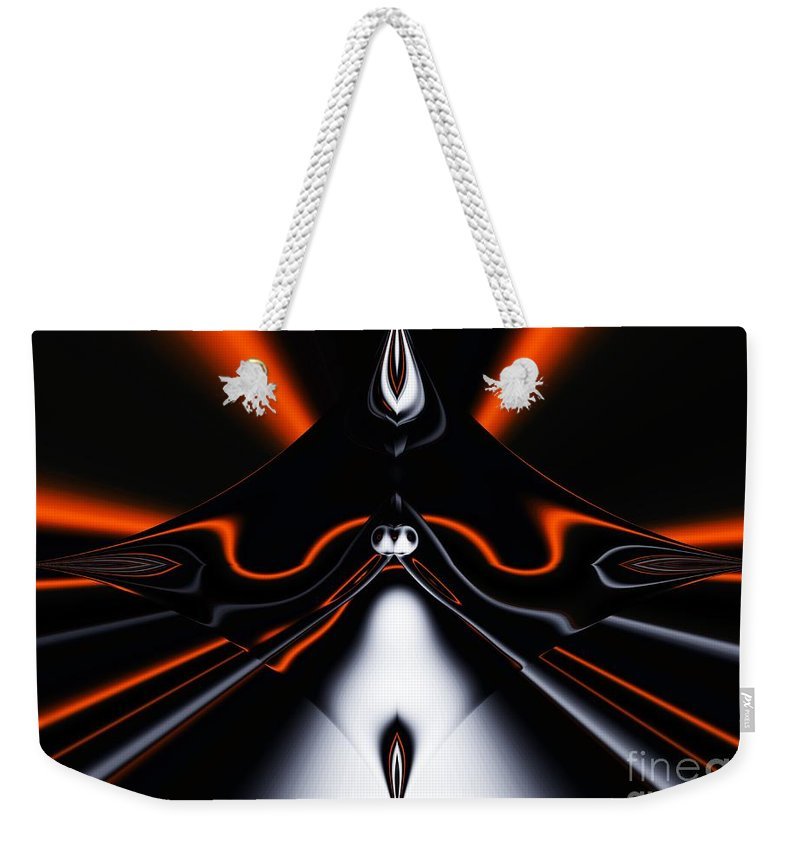 Abstract Weekender Tote Bag featuring the digital art Abstract 4-22-09 by David Lane