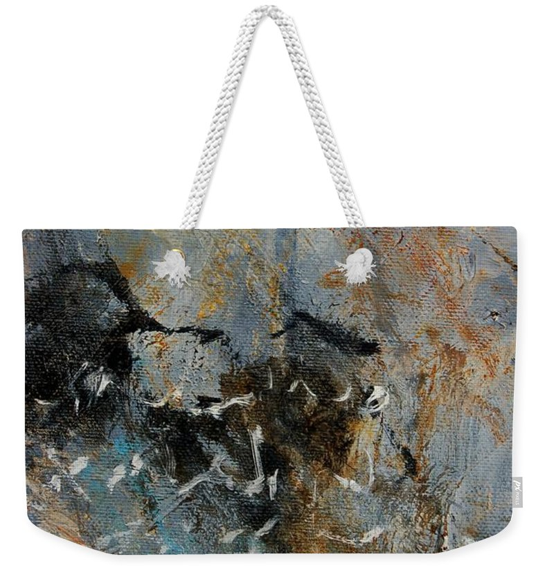 Abstract Weekender Tote Bag featuring the painting Abstract 4526987 by Pol Ledent