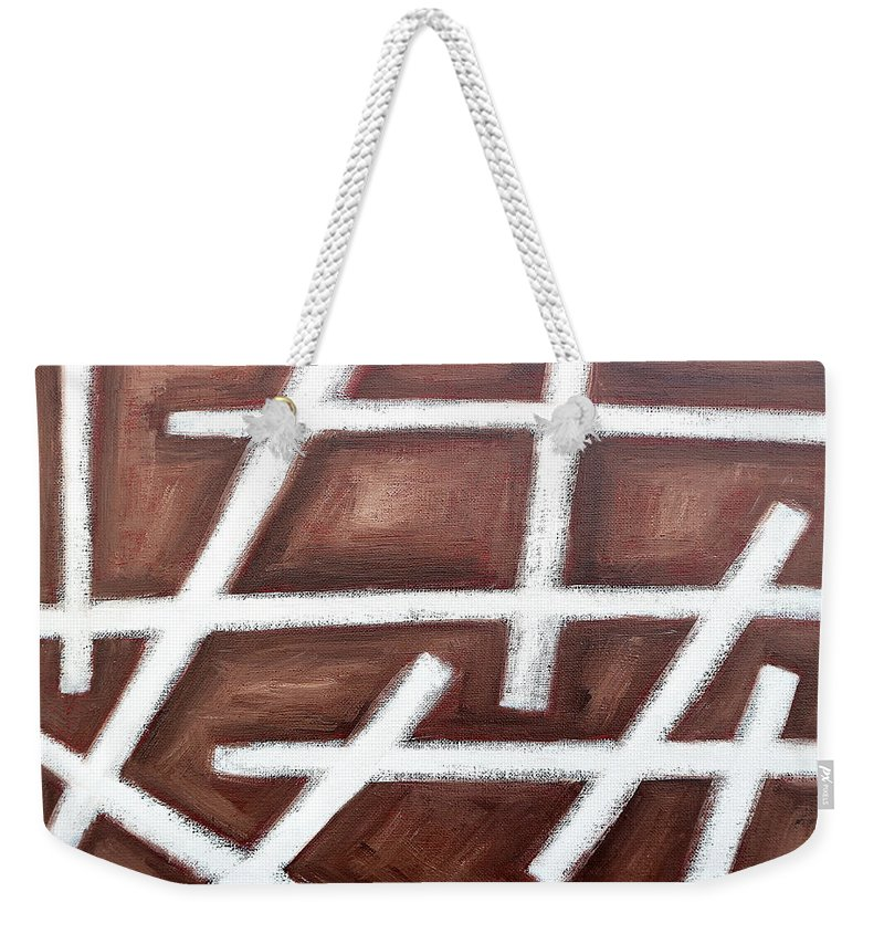 Abstract Weekender Tote Bag featuring the painting Abstract 459 by Patrick J Murphy